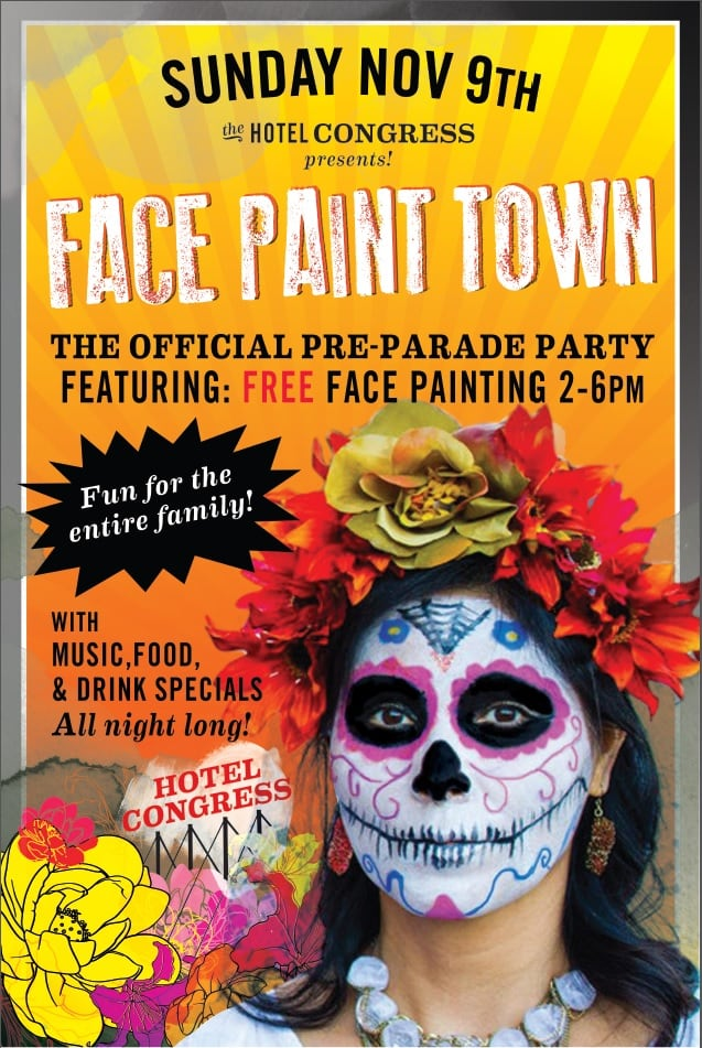 The All Souls Procession Pre Party Feat Face Paint Town